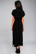 Destination Chic Black Midi Dress 3