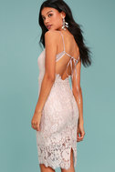 Extraordinary Love Blush Lace Midi Dress 2