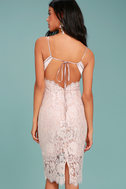Extraordinary Love Blush Lace Midi Dress 3
