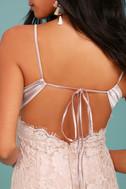 Extraordinary Love Blush Lace Midi Dress 4