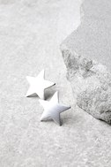 Well-Known Silver Star Earrings 2