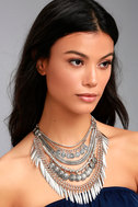 Fortune Teller Silver Layered Choker Necklace 3
