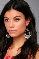 Globe-Trotting Silver Earrings 1
