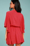 Free People Cora Coral Red Embroidered Dress 3