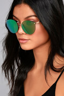 Candy Dreams Silver and Blue Mirrored Sunglasses 3