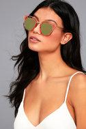 Revelery Pink Mirrored Sunglasses 3