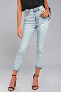 Cheap Monday Donna Light Wash High-Waisted Jeans 2