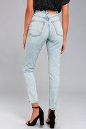 Cheap Monday Donna Light Wash High-Waisted Jeans 4