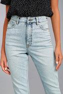 Cheap Monday Donna Light Wash High-Waisted Jeans 3