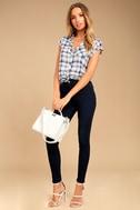 Cheap Monday High Spray Dark Wash High-Waisted Skinny Jeans 1
