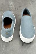 Steve Madden Gills Light Blue Suede Leather Slip-On Sneakers 3