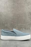 Steve Madden Gills Light Blue Suede Leather Slip-On Sneakers 2