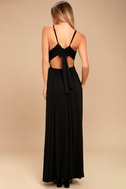 Sultry Something Black Backless Maxi Dress 3