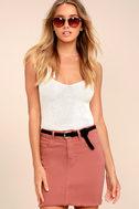 Pop and Lock Rusty Rose Denim Mini Skirt 1