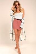 Pop and Lock Rusty Rose Denim Mini Skirt 2