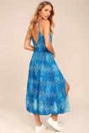 Young Sol Blue Print Midi Dress 2