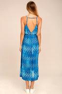 Young Sol Blue Print Midi Dress 3