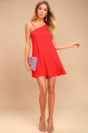 Nights in Paradise Coral Red Swing Dress 2