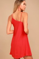 Nights in Paradise Coral Red Swing Dress 3