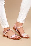 Bailey Blush Multi Flat Sandals 4