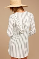 Billabong Same Story Ivory Striped Lace-Up Cover-Up 3