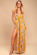Going to the Garden Yellow Floral Print Jumpsuit 1