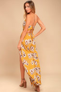 Going to the Garden Yellow Floral Print Jumpsuit 2