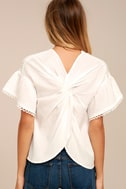 Moon River Del Mar White Embroidered Top 3