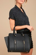 Wing-Woman Black Handbag 8