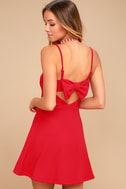 Get to Bow Me Red Skater Dress 2