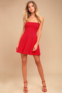 Get to Bow Me Red Skater Dress 1
