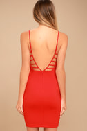 So Good Coral Red Bodycon Dress 3