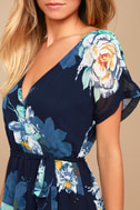 On the Pond Navy Blue Floral Print Maxi Dress 4