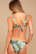 MINKPINK Shady Fronds Green Print Bikini Bottoms 3