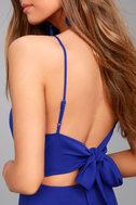 Yours Forever Royal Blue Backless Skater Dress 4