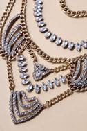 Putting on the Ritz Gold Rhinestone Statement Necklace 2