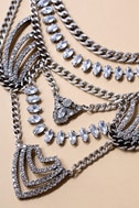 Putting on the Ritz Silver Rhinestone Statement Necklace 2