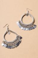 Globe-Trotting Silver Earrings 2