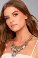It's Your Love Gold Rhinestone Layered Statement Necklace 1