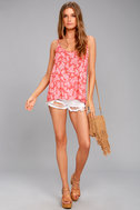 Olancha Rusty Rose Floral Print Tank Top 1