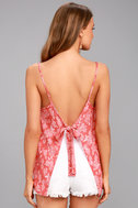 Olancha Rusty Rose Floral Print Tank Top 3