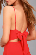 Yours Forever Red Backless Skater Dress 4