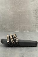 Dee Black Slide Sandals 1