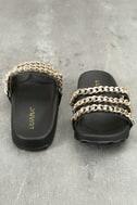 Dee Black Slide Sandals 3
