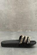 Dee Black Slide Sandals 2