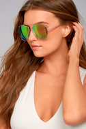 Hot Springs Gold and Pink Mirrored Aviator Sunglasses 3