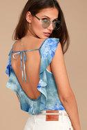 Maritime Blue Tie-Dye Bodysuit 1