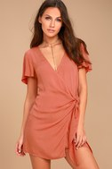 Vashti Rusty Rose Wrap Dress 2