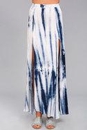Shore to Adore Blue Tie-Dye Maxi Skirt 2