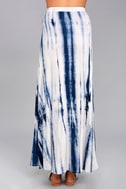 Shore to Adore Blue Tie-Dye Maxi Skirt 3